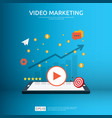 media marketing concept making money from video vector image vector image