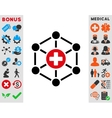 Medical Network Icon vector image vector image