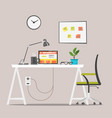 modern workplace job concept vector image vector image