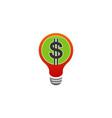 money idea logo vector image vector image