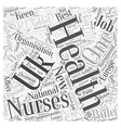 New Recruitment Rules For NHS Nurses Word Cloud vector image vector image