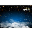 Night sky magic cloud Holiday Shining Motion vector image vector image