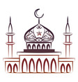 ornate colorful mosque vector image vector image