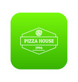pizza house icon green vector image vector image