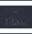 poster sydney opera house dark vector image vector image