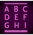 Realistic neon alphabet a-i vector | Price: 1 Credit (USD $1)