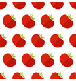 red tomato seamless organic vegetable pattern vector image