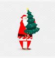 santa claus christmas isolated vector image vector image