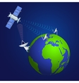 satellite broadcasting concept vector image
