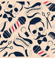 seamless pattern with barber shop supplies vector image vector image