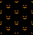 set of scary faces halloween pumpkins vector image vector image