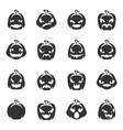 silhouette simple halloween pumpkin decoration vector image vector image