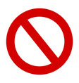 stop sign no entry warning red circle icon vector image vector image