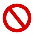 stop sign no entry warning red circle icon vector image