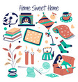 sweet home furniture and house decor isolated vector image vector image