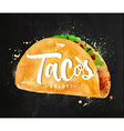 Tacos chalk vector image vector image