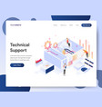 technical support isometric concept vector image vector image