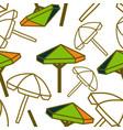 umbrella beach pattern seamless design template vector image vector image