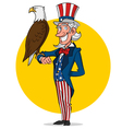 Uncle Sam and eagle vector image