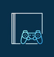 video game console with gamepad colored vector image