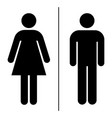 wc toilette icon on white background vector image vector image