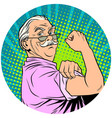 we can do it old man retired pop art avatar vector image vector image
