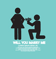 Will You Marry Me Graphic Symbol vector image vector image