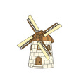 Windmill-380x400 vector image vector image