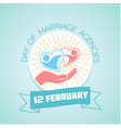 12 february day of marriage agencies vector image vector image