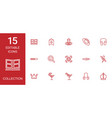 15 collection icons vector image vector image