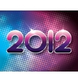 2012 halftone background vector image
