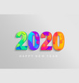 2020 new year banner coloured emblem vector image