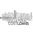 a guide to low cost loans text word cloud concept vector image vector image