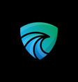 abstract logo blue and green abstract bird logo vector image