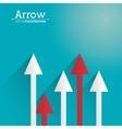 Arrow shape design vector image vector image