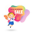 back to school sale banner in memphis style vector image vector image