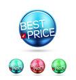 best price round label vector image
