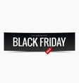black friday sale banner design background vector image vector image