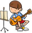 boy with guitar cartoon vector image