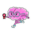 brain cartoon design vector image