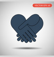 business handshake icon eps 10 vector image vector image