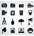 camera accessories vector image vector image