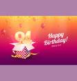 celebrating 94th years birthday vector image vector image