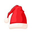 christmas traditional red hat winter holiday vector image vector image