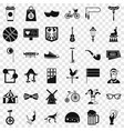 circus bike icons set simple style vector image vector image