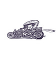 classic retro hot-rod cars isolated on vector image vector image