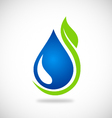 clean water green leaf ecology logo vector image vector image