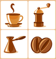 coffee and accessories vector image vector image