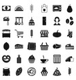 cooking icons set simple style vector image vector image