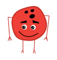 cute bowling ball cartoon character vector image